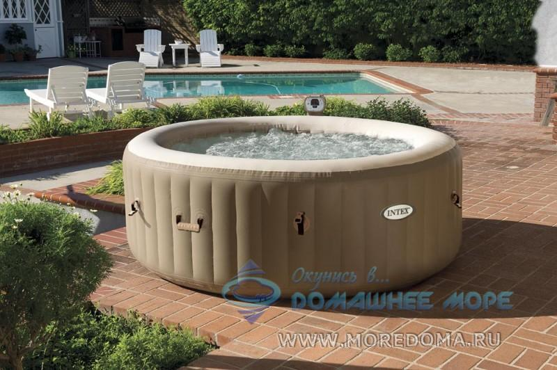 Надувной бассейн джакузи Intex 28408 PureSpa Bubble Therapy