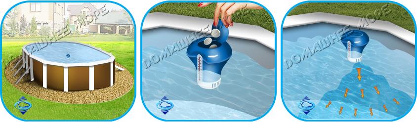 Поплавок-дозатор для бассейна сделать своими руками